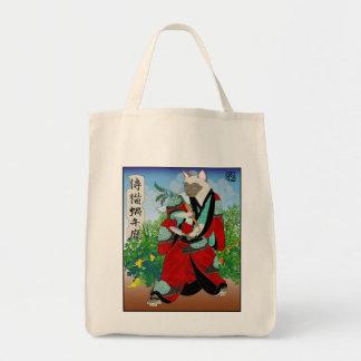 Cats in Kimono: Samurai Gardeners -- Snails Tote Bag