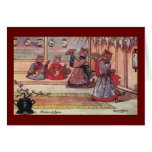 Cats in Kimonos Vintage Louis Wain Greeting Card