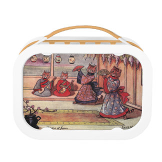 Cats in Kimonos Vintage Louis Wain Lunch Box