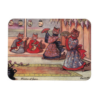 Cats in Kimonos Vintage Louis Wain Magnet