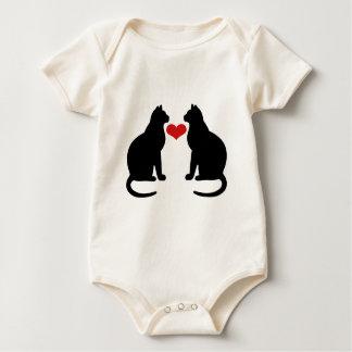 Cats In Love Baby Bodysuit
