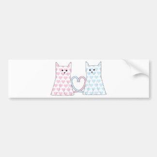 Cats in Love Bumper Sticker