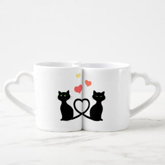 Cats in Love Coffee Mug Set
