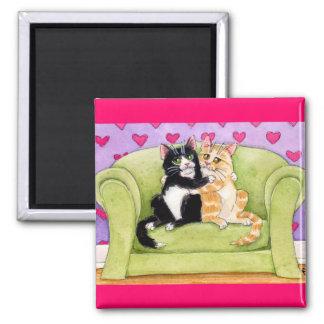 Cats in love cute magnet