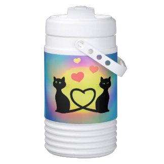 Cats in Love Igloo Beverage Dispenser