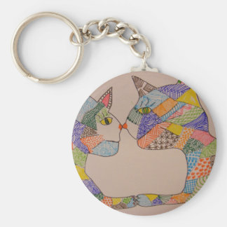 Cats in Love Keychain