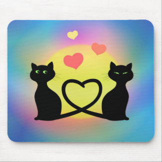 Cats In Love Mouse Pads