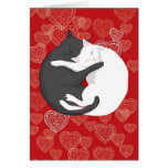Cats in Love: Paulie & Angie (Card) Greeting Card