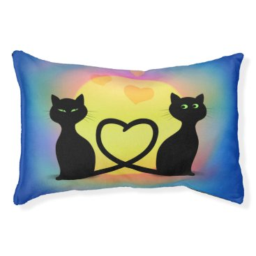 Valentines Themed Cats in Love Pet Bed