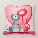Cats in love, pillow throwpillow