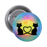 Cats In Love Pinback Button