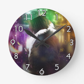Cats in Love Round Clock