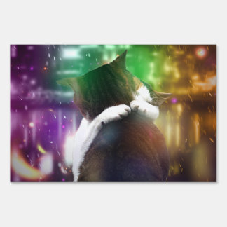 Cats in Love Sign