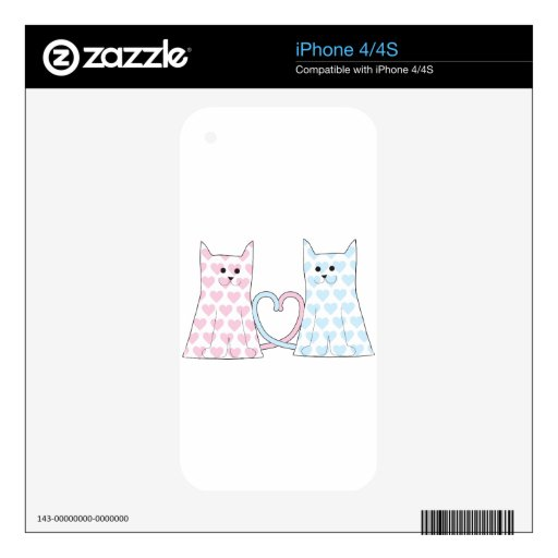 Cats in Love Skins For iPhone 4