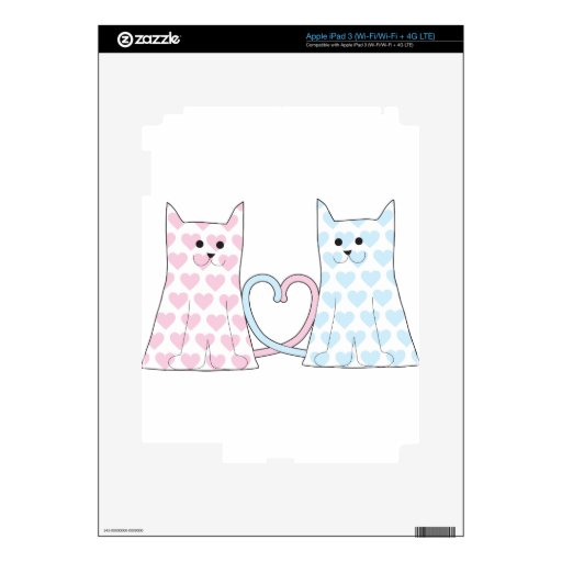 Cats in Love iPad 3 Decals