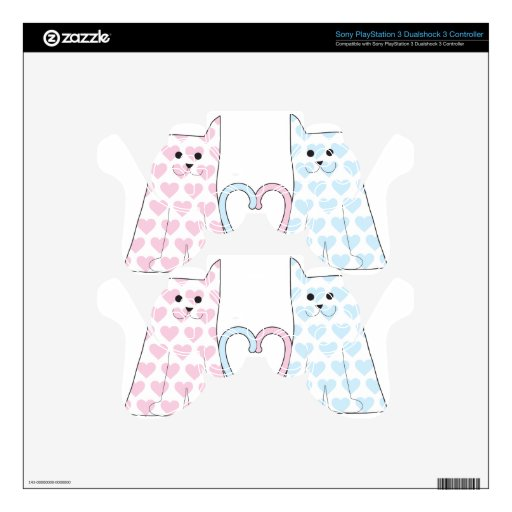 Cats in Love PS3 Controller Decal