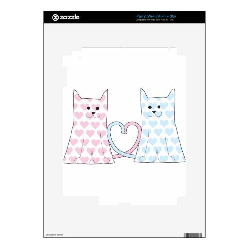 Cats in Love Decals For The iPad 2