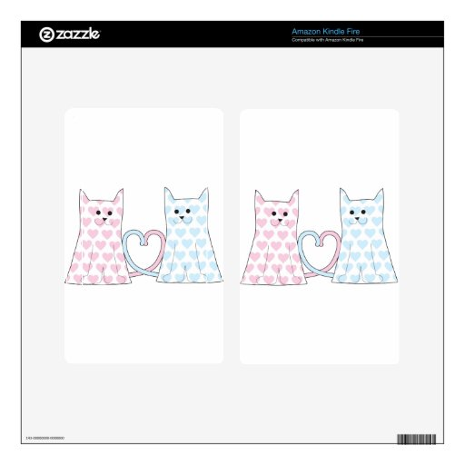 Cats in Love Kindle Fire Skin