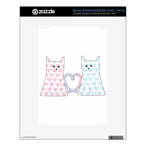 Cats in Love Skins For NOOK
