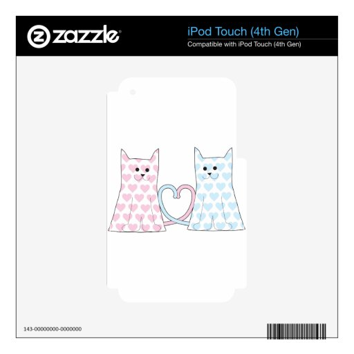 Cats in Love iPod Touch 4G Decal