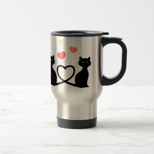 Cats In Love Travel Mug