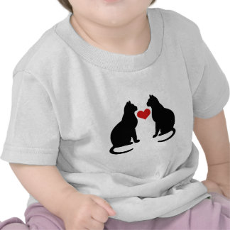 Cats In Love Tee Shirt