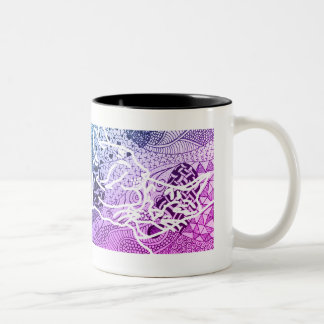 Cats in Love Two-Tone Coffee Mug