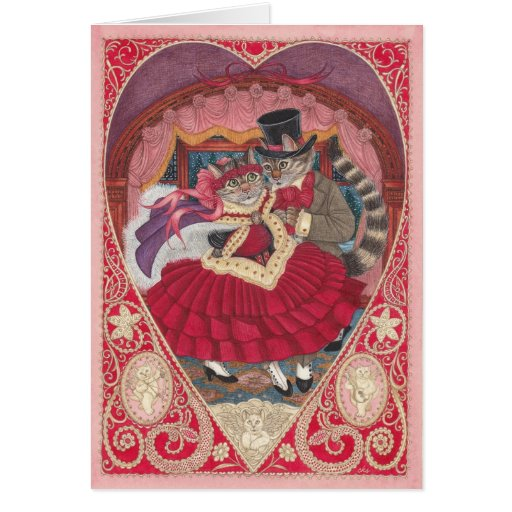 Cats in Love Valentine Card