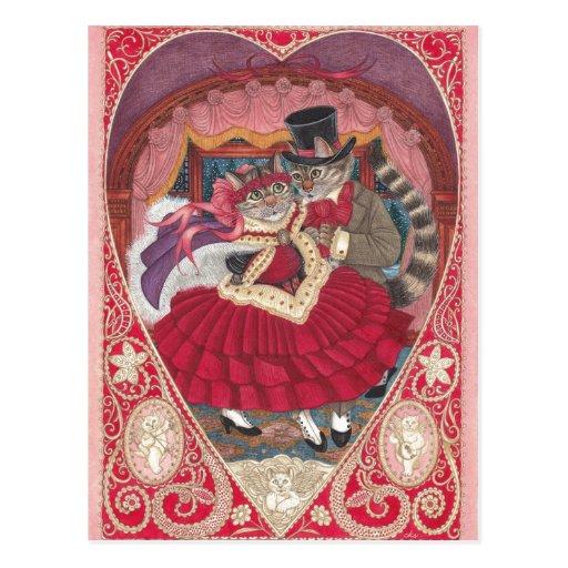Cats in Love Valentine Postcard