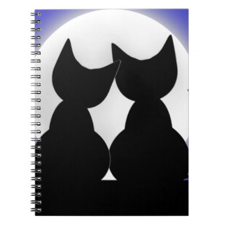 Cats In Moonlight Note Books