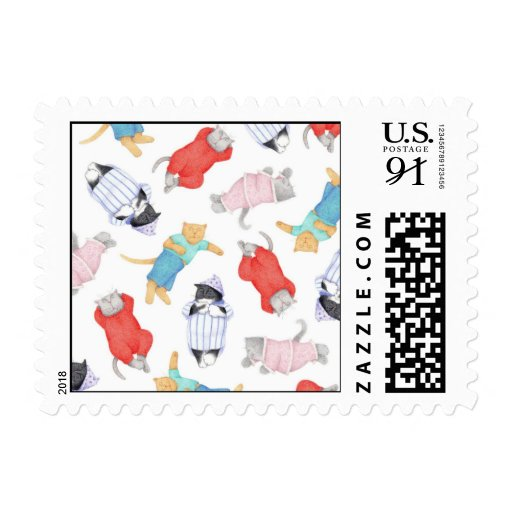 Cats in Pajamas 1st Class 3oz Stamps ( .85)