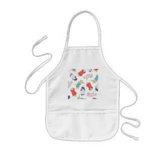Cats in Pajamas Kids White Apron