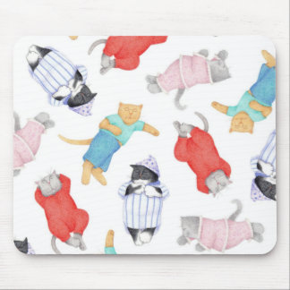 Cats in Pajamas Mousepad