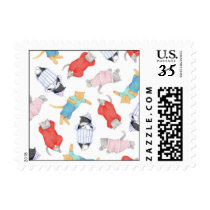 Cats in Pajamas Postcard Stamps ( .32)