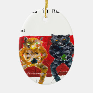 Cats in Rehab videogames Ceramic Ornament
