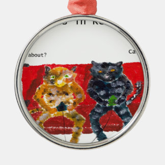 Cats in Rehab videogames Metal Ornament
