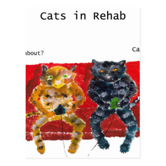 Cats in Rehab videogames Postcard