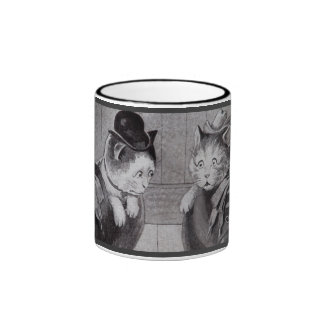 Cats in Shoes Ringer Coffee Mug