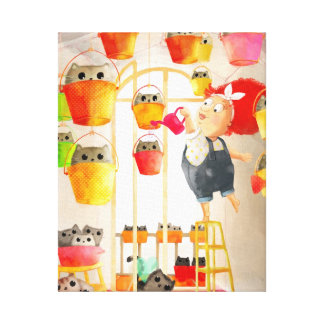 Cats in The Attic Gallery Wrapped Canvas