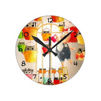 Cats in The Attic Clocks