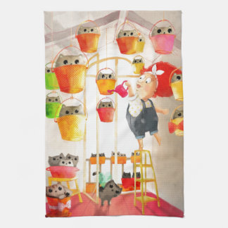 Cats in The Attic Hand Towel