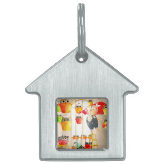 Cats in The Attic Pet Name Tag