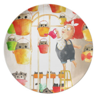Cats in The Attic Dinner Plate