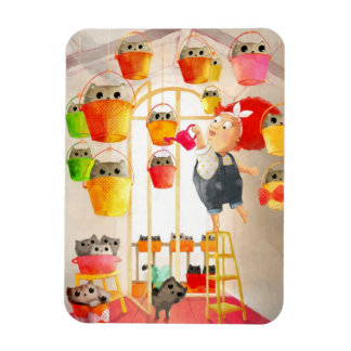 Cats in The Attic Rectangular Magnets