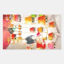 artsprojekt, cat, kitten, cute cat, cat plant, attic cat, kawaii, plant, pet, animal, cute animal, kawaii animal, cute pet, cat lover, cat illustration, illustration, children illustration, kids, kid, children, cat gift, cat present, Sticker with custom graphic design