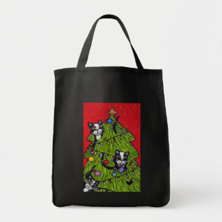 Cats in the Christmas Tree Bag