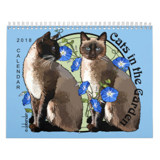 Cats in the Garden 2018 Calendar