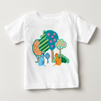 Cats in the garden baby T-Shirt