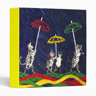 Cats in the Rain 3 Ring Binder
