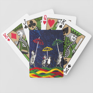 Cats in the Rain Playing Cards
